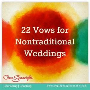 22 vows for non traditional weddings i like one of the With non traditional wedding vows