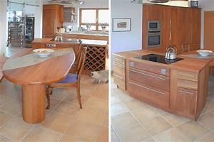 Kücheninsel Mit Tisch : moderne vollholzk che in birnbaum ~ Yasmunasinghe.com Haus und Dekorationen