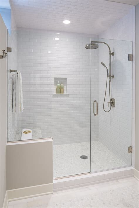 white bathroom  subway tile    ceiling