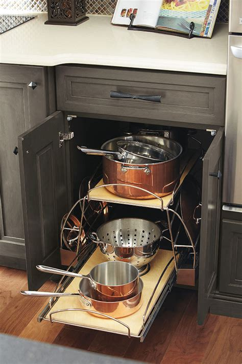 kitchen storage cabinets for pots and pans pots and pans storage pullout omega cabinetry
