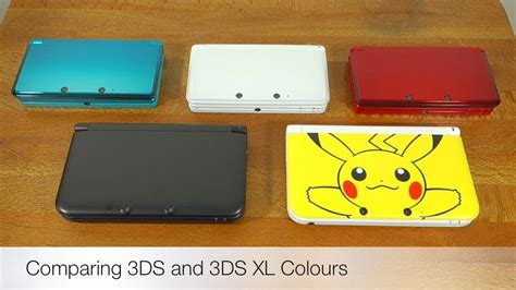 3ds xl colors nintendo 3ds and 3ds xl colour comparison