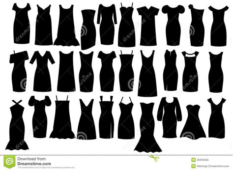 black dress stock vector illustration  design