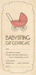 Babysitting gift certificate template 28 images free printable coupons for unique gift ideas for Baby sitting gift certificate