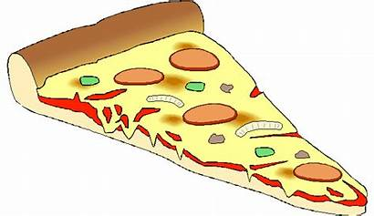 Pizza Slice Clipart Cheese Cartoon Triangle Background