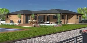 une maison de plain pied a ossature bois detail du plan With idee maison plain pied 0 maison plain pied ecologique