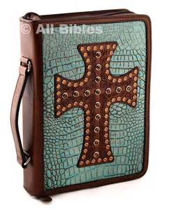 Western Leather Bible Cover Large