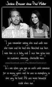 Jordana Brewster about Paul Walker by PaulWalkerDedication ...
