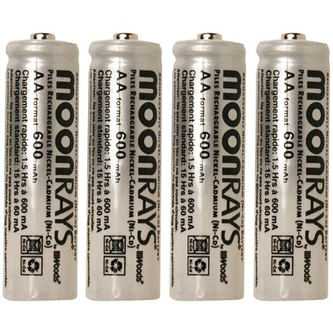 moonrays rechargeable 600 mah nicd aa batteries for solar
