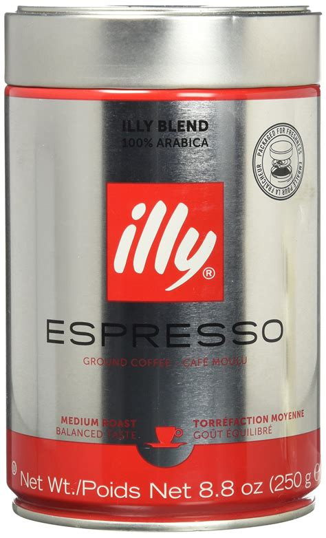 Amazoncom  Illy Ground Ground Espresso Medium Roast, 8