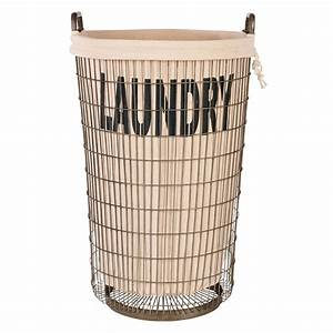 Aidan Gray Wire Laundry Basket with Linen Candelabra, Inc