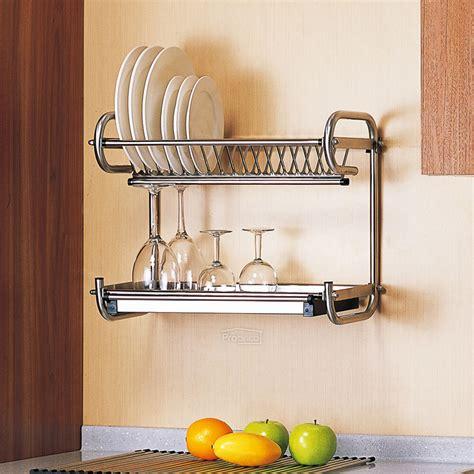 tier stainless steel kitchen drip dish drainer plates rack bowl storage holder ebay