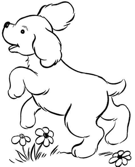gambar kartun anjing untuk mewarnai