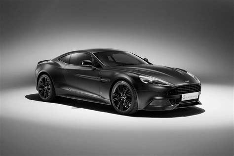 aston martin reveals  jet black vanquish coupe