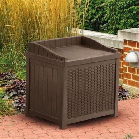 suncast resin wicker 22 gallon storage seat walmart com