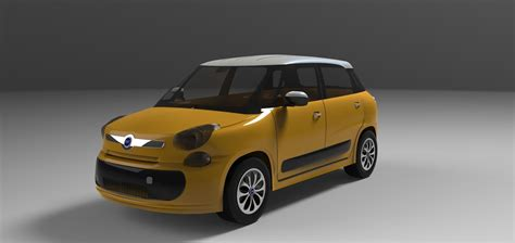 Fiat 500l Models by Fiat 500 L 2013 3d Model Cgtrader