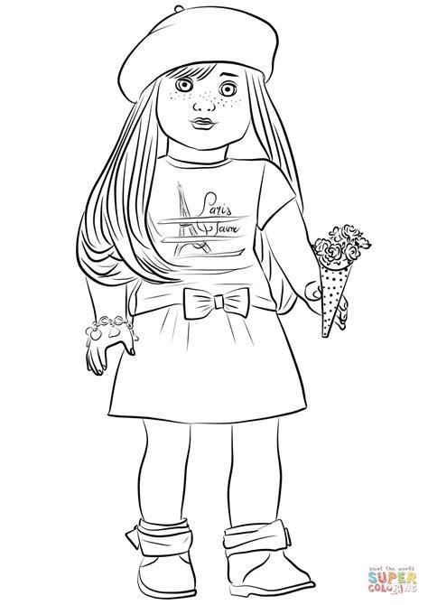 American Girl Grace Thomas coloring page Free Printable