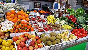 aa Fruit and Vegetable Stall, in Loule Market Hall ...
