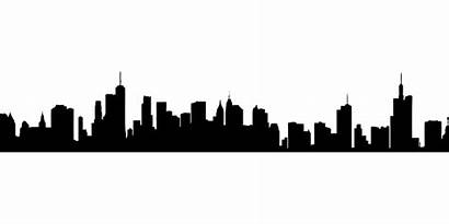 Skyline Cityscape Clipart Silhouette Vector Hollywood Drawing