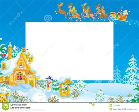 christmas frame border  santa claus stock photo
