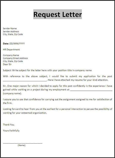 request letter templates application letters