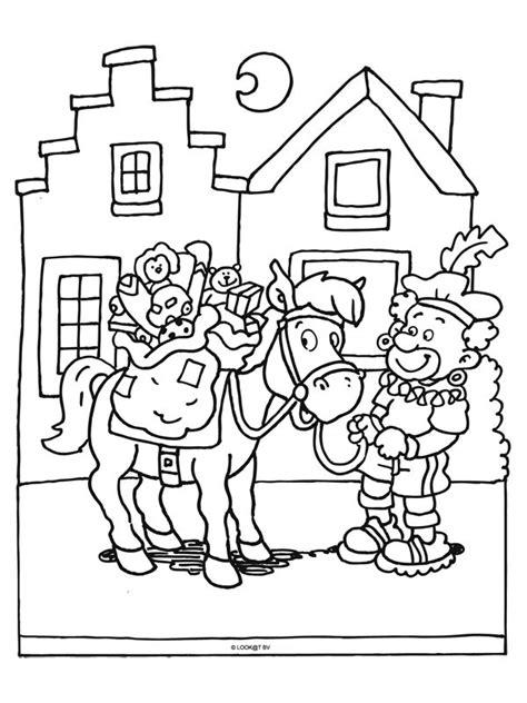 Kleurplaat Zwarte Piet Fiets by 17 Best Images About Sinterklaas Kleurplaten On