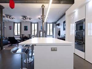 cuisine blanc laque avec ilot systembaseco With meuble de cuisine ilot central 0 cuisine leicht et lineaquattro