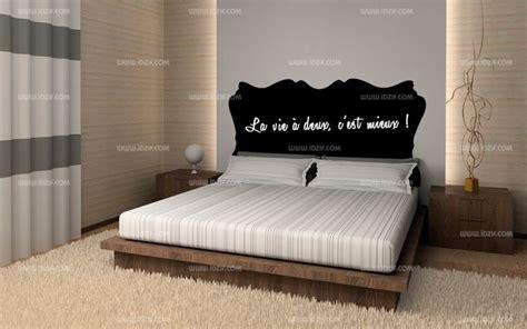 stickers muraux pour chambre adulte stickers tête de lit ardoise
