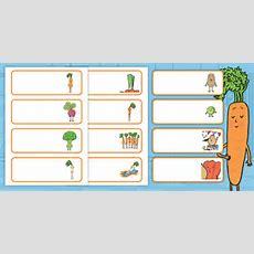 * New * Veggie Club Vegetable Name Labels  Eyfs, Ks1, Twinkl Originals