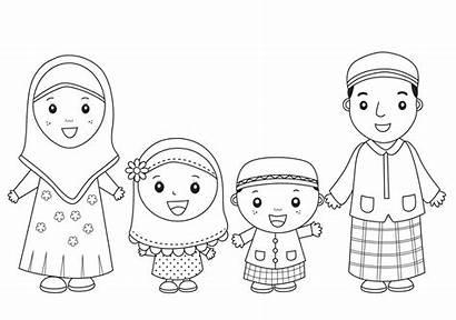 Anak Gambar Mewarnai Muslim Contoh Dan Menggambar