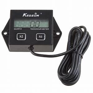 Kedsum Hour Meter Tachometer 2  U0026 4 Stroke Small Engine