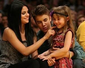 Justin Bieber and Selena Gomez, Los Angeles Lakers VS ...