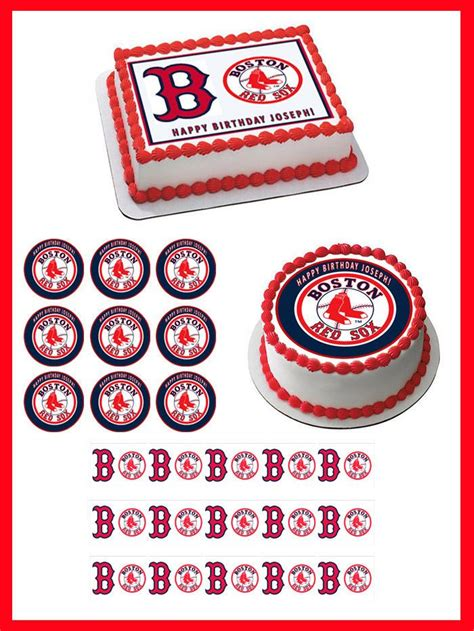 ideas  red sox cake  pinterest atlanta