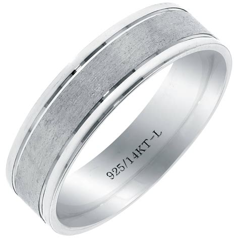 15 photo of mens sterling silver wedding bands