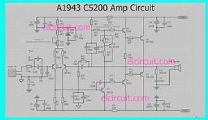 A1943 C5200 Power Amplifier Circuit
