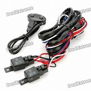 H3 55w Fog Light Wiring Kit With Fuse  U0026 Switch  12v  - Free Shipping