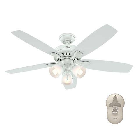 hunter highbury ceiling fan hunter highbury 52 in indoor white ceiling fan with light