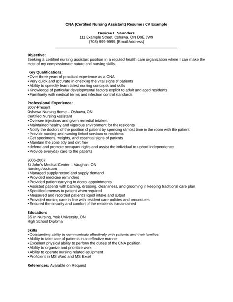 Cna Resume Template by Professional Cna Resume Template