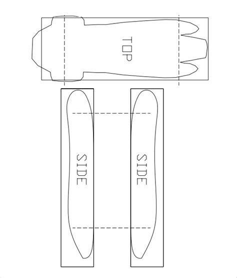 pinewood derby template 12 sle pinewood derby templates to sle templates