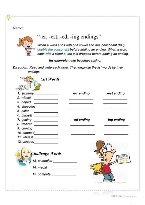 ed and ing worksheets free printables worksheet