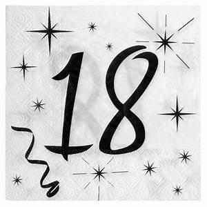 Deco 18 Ans : 20 serviettes anniversaire 18ans 1001 d co table ~ Teatrodelosmanantiales.com Idées de Décoration