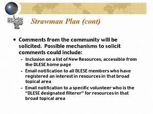 Strawman Plan  Cont