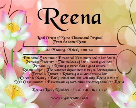 reena unique names