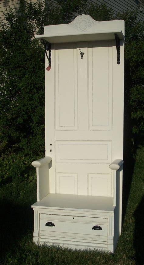 Antique Door Hall Tree Bench Seat Furniture Pinterest
