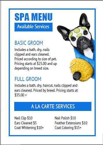 Dog Grooming - Price List Templates Bundle(16)