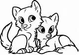 Coloring Animal Pages Baby Foxes sketch template