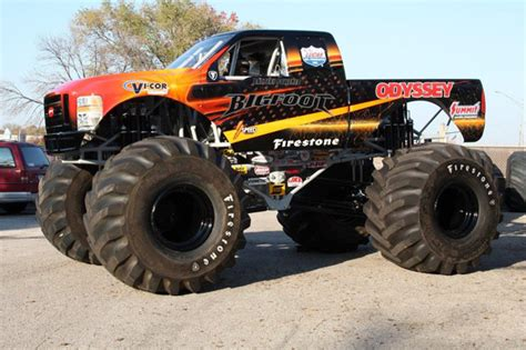 bigfoot electric monster truck bigfoot monster truck goes electric leaf evs tremble in