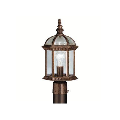 outdoor l post not working kichler 9935tz tannery bronze barrie single light 16 quot wide