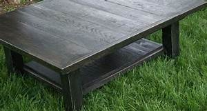 reclaimed rustic coffee table solid wood with ebony stain With black reclaimed wood coffee table