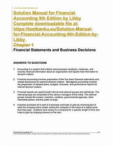 Solution Manual For Financial Accounting 9th Edition By