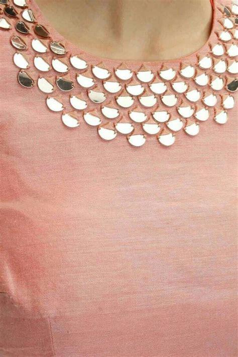 gota patti work  kurthis simple craft ideas